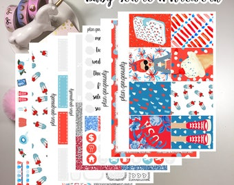 """Erin Condren and Happy Planner Sticker Kit - """"Baby You're A Firework"""" - 4th of July Planner Stickers - July Stickers"""