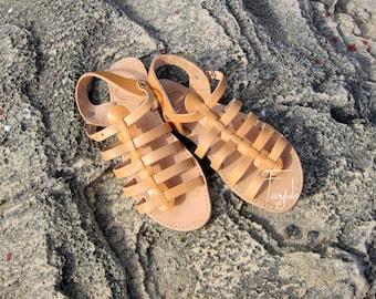 "Spartan Greek Leather sandals -Unisex greek sandals, authentic leather handmade sandals, stylish sandals - ""Bacchus"""