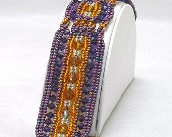 FINAL CLEARANCE Sale Wide Swarovski Crystal Sunset Bracelet. EBW Team - by Hannah Rosner