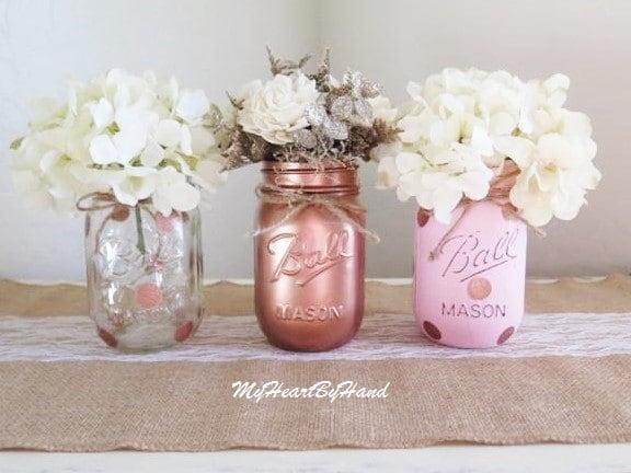 Mason Jar Baby Shower Decorations Mesmerizing Rose Gold Baby Shower Decorations Rose Gold Wedding Design Decoration