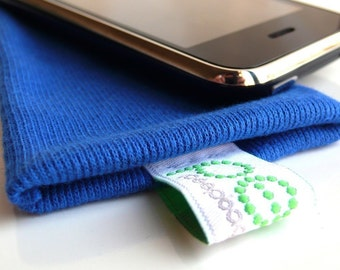 iphone sock - electric blue