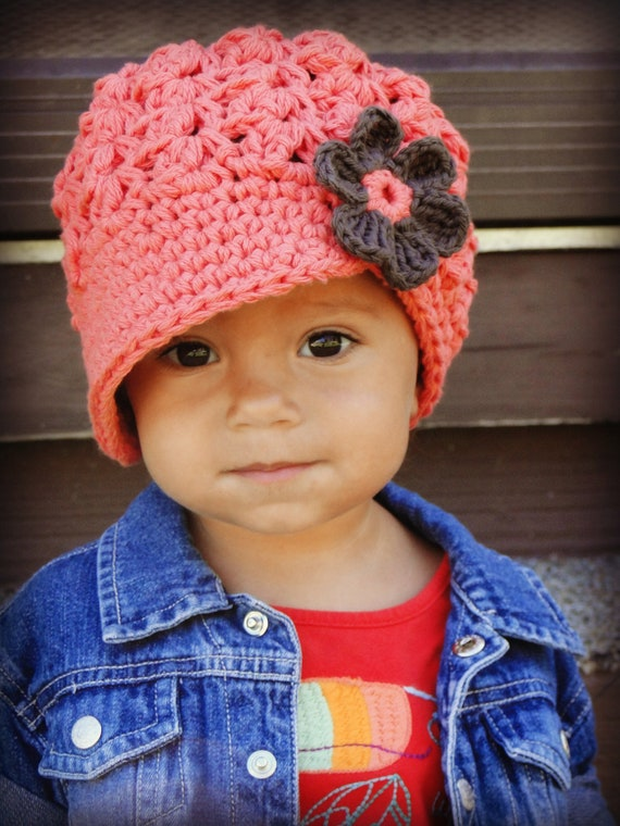 Crochet Baby Hat toddler girls hat kids hat crochet newsboy