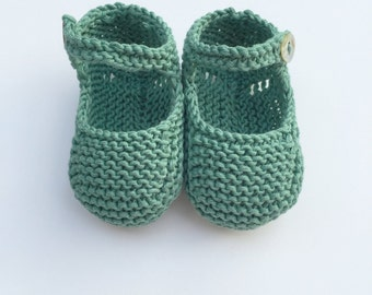 Knit Baby Booties, Knit Baby Shoes, Knit Crib Shoes, Cotton Baby Booties, Knitted Baby Bootes,Knitted Baby Shoes, Knit Baby Slippers