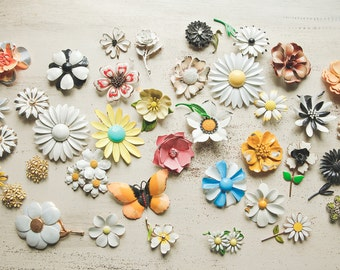 35 Hand Painted Brooches