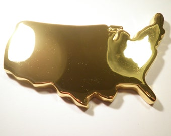 1 Gold Plated United States Paperweight