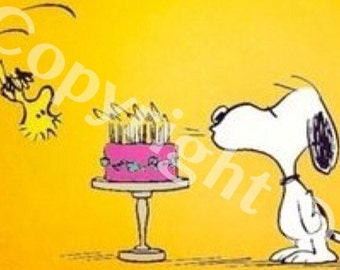 Charlie brown card etsy charlie brown instant download snoopy birthday card woodstock peanuts print out many times original birthday bookmarktalkfo Gallery