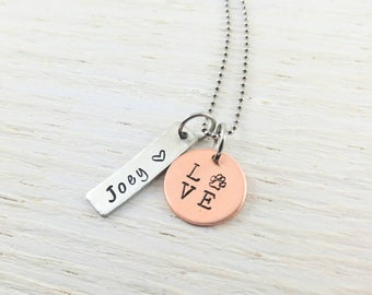 Dog Lover Gifts Dog Necklace Custom Pet Jewelry Custom Dog Tags Personalized Pet Jewelry Pet Necklace Cat Pendant