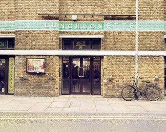 London art print, London photography, London wall art, large photography, bicycle print - Vintage London