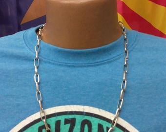 Southwestern Native American Handmade Navajo 11 Gauge Sterling Silver Necklace