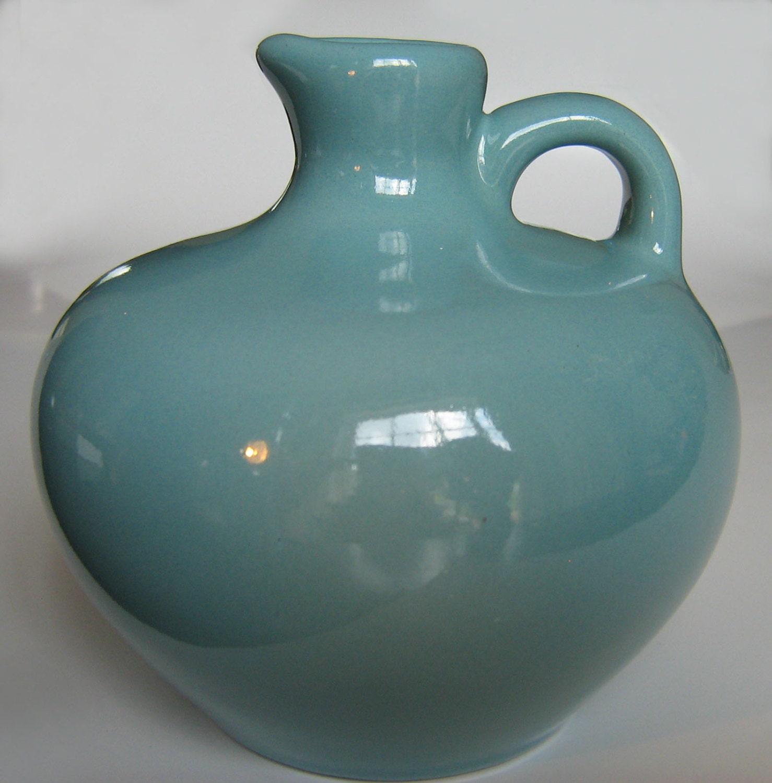 FLORAMICS Florida jug pitcher Honey Syrup Blue Teal Art