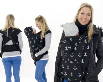 Babywearing Softshell carry cover/rain cover for carrying jacket & Shawls Baby Carrier cover deluxe with scarf collar