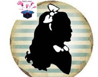 1 cabochon clear 18 mm alice theme