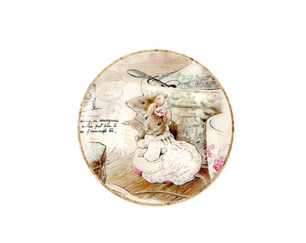 Fancy Mice Beatrix Potter Tailor of Gloucester Mouse Pocket Mirror Handmade Jewellery Accessories Gift For Her Present Stocking Filler