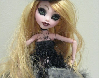 "Ooak Monster High Custom Draculaura ""Darling Nikki"" Doll Burlesque Carbaret  Artist Doll"