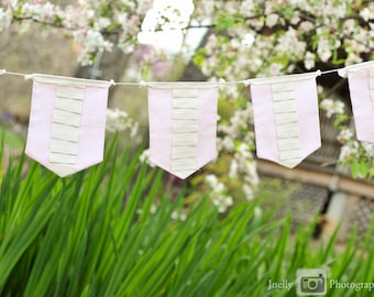 SAMPLE SALE Vintage Ruffle Fabric Banner (free shipping!)