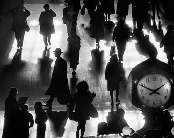 "RICHARD SANDLER - ""Grand Central Terminal, 1990"" - Signed Silver Gelatin Print"