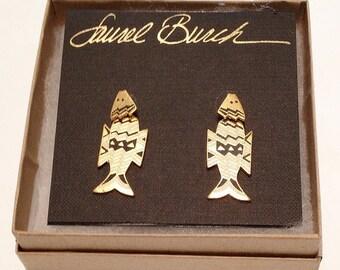 Laurel Burch Fish Spirit earrings ( Deadstock/ New/ Never been used )