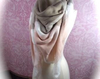 oversized blanket scarf/blanket scarf/grey scarf