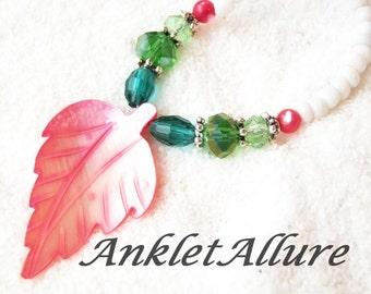Ankle Bracelet Anklet Shell Anklet Beach Ankle Bracelets for Women Pink Green GUARANTEED