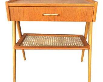 Vintage Danish Mid Century Modern Teak & Oak Side Table