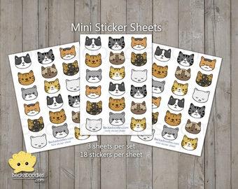 Kawaii Kittens mini Stickers - Planner Sticker Sheets
