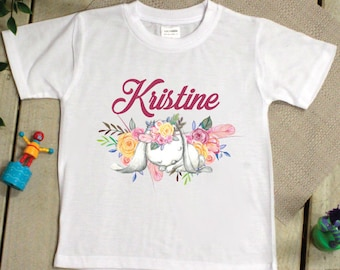 Kids Easter T Shirt - 2-6 Years - Garden Bunny