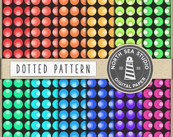 BUY5FOR8 Dot Digital Paper Dots Paper Dotted Backgrounds Digital Scrapbooking 12 JPG 300dpi Files Download