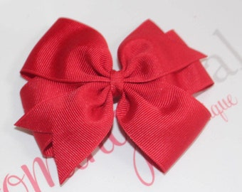 4 inch red pinwheel bow