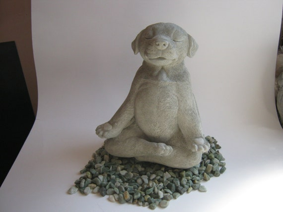 Dog Statue Buddha Dog Meditating Dog Statue Zen Cement