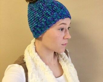 Multicolor Messy Bun Hat