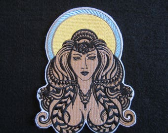 Embroidered Virgo Zodiac Sign Iron On Patch, Iron On Patch, Virgo, Virgo Patch, Iron ON Applique, Horoscope Sign Virgo