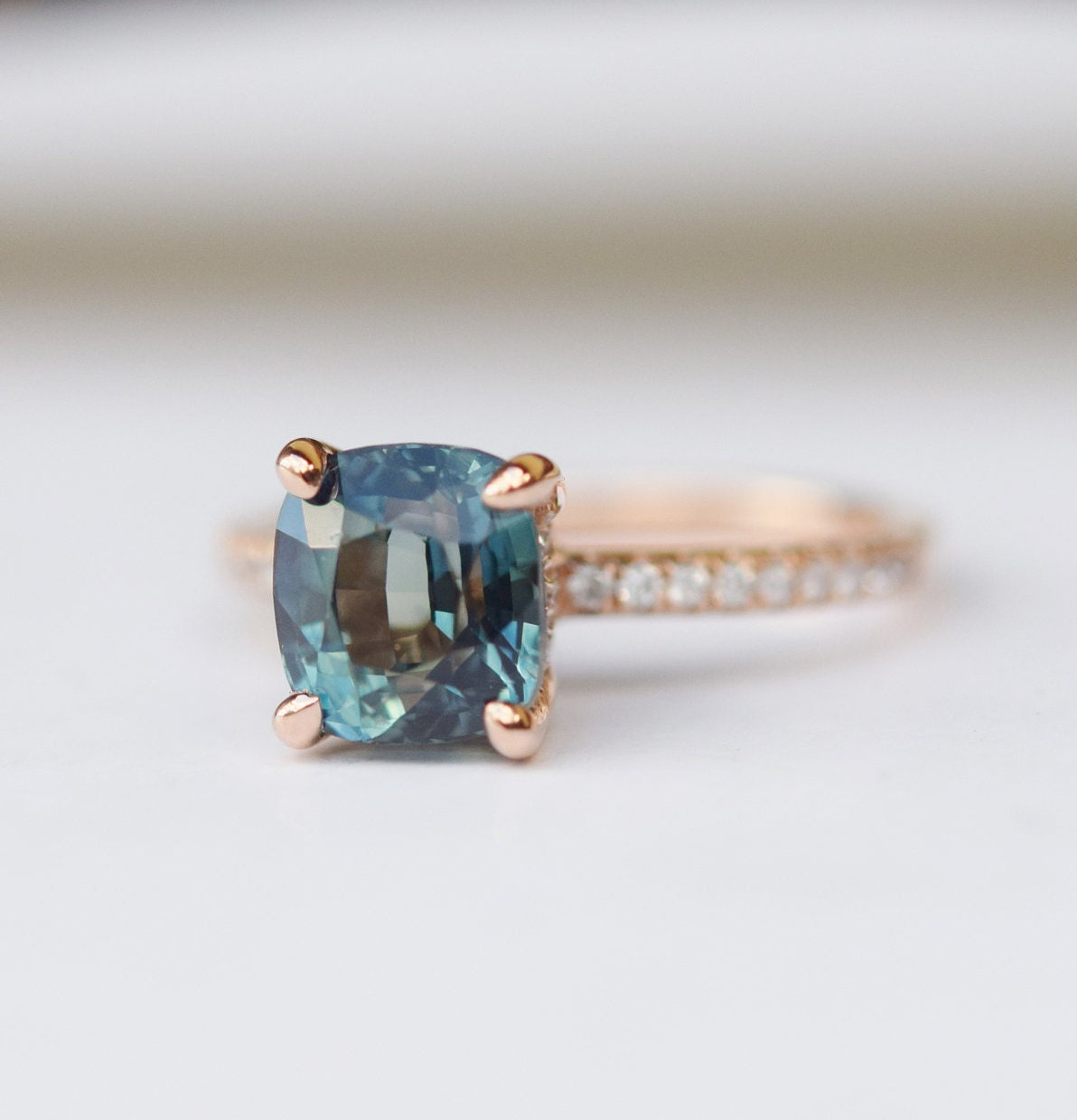 beautiful blue pinterest ring wedding awesome best sapphire green on engagement and images vintage rings of