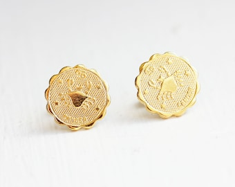 Cancer Astrology Studs, Cancer Earrings, Cancer Stud Earrings, Gold Cancer Studs, Astrology Studs, Zodiac Studs, Stud Earrings, Cancer Studs