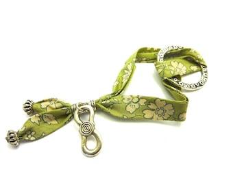 Liberty fabric adjustable strap and infinity charm *.