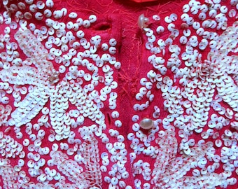 Stunning Heavily Sequinned 50s Sweater, Larger Size