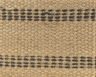 Natural Jute Webbing with Black Stripes - 3.5 Inches Wide, Multiple Roll Lengths and Pack Sizes Available