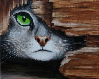 Cat - Original painting