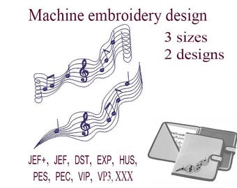 Machine embroidery designs music notes. treble clef   embroidery designs.   Embroidery Design music . File Instant Download.