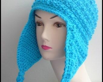 MODÈLE - Crochet Hori nopes Earflap Hat - livraison internationale gratuite