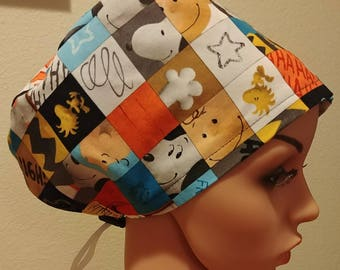 Women's Surgical Cap, Scrub Hat, Chemo Cap, Peanuts Gang