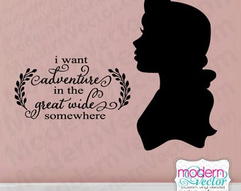 Beauty And The Beast Belle And Beast Quote Vinyl Wall Decal