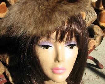 Vintage Real  Fur Hat