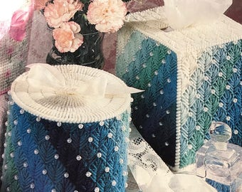 Toilet paper cover and Tissue Box cover set