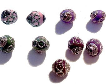 2 beads, Indonesian, 15mm, choose colors!