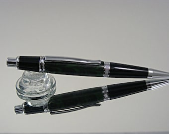 Handcrafted Mechanical Pencil, .7mm Pencil in Chrome and Ebonite