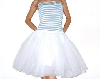 Tulle petticoat White skirt 55 cm