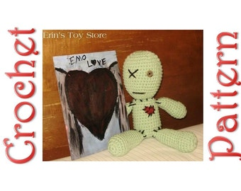 Emo Voodoo Doll a Crochet Pattern by Erin Scull