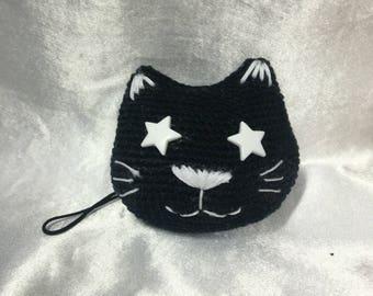 """""""Starry cat"""" keychain"""