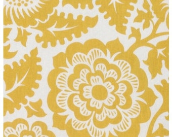 Clearance Joel Dewberry Blockprint Blossom in Honey By The Yard Modernist Collection
