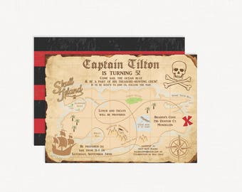 pirate invitation pirate birthday invitation pirate birthday